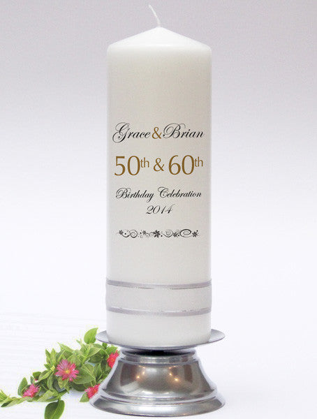 Personalised Celebration Candles - the perfect gift or keepsake for anniversaries, birthdays and special events.