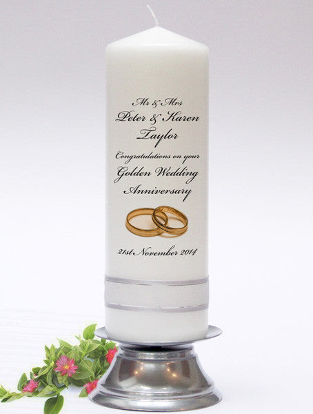 Personalised Anniversary & Celebration Candles - the perfect gift to celebrate any special occasion.