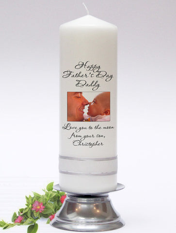Photo Celebration Candlee. Personalised Candles for all ocassions. Handmade in UK.