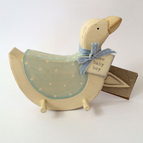 Adorable handmade, wooden Goose Pegboard for baby boy.
