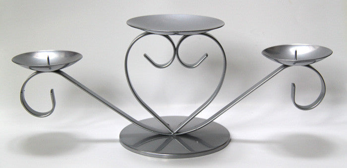 Charming heart shaped pillar candle holder. Stylish, affordable candleholders made in UK.