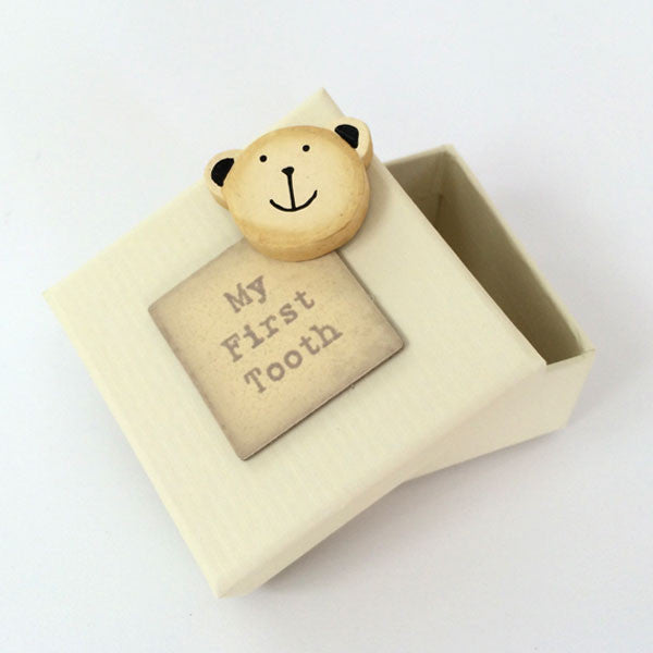 Delightful 'My First Tooth' bear keepsake box.