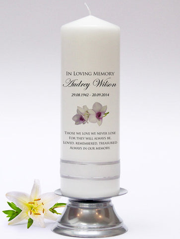 Absence Candles, Memorial Candles & Rembrance Candles. In loving memory. Fully personalised in UK.