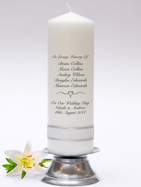 Memorial Candles, Absence Candles & Rembrance Candles. In loving memory of those no longer with us.