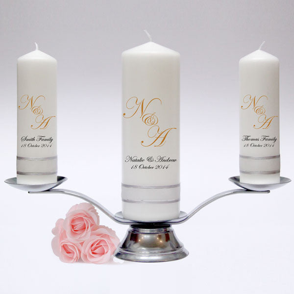Personalised Wedding Unity Candles & Candle Sets. Stylish designs, fully customised. Hand made in UK.