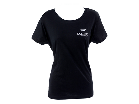Women's Essential Cotton T-Shirt Black - Dzihic
