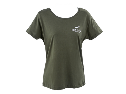 Women's Essential Cotton T-Shirt Khaki - Dzihic