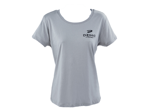 Women's Essential Cotton T-Shirt Grey - Dzihic