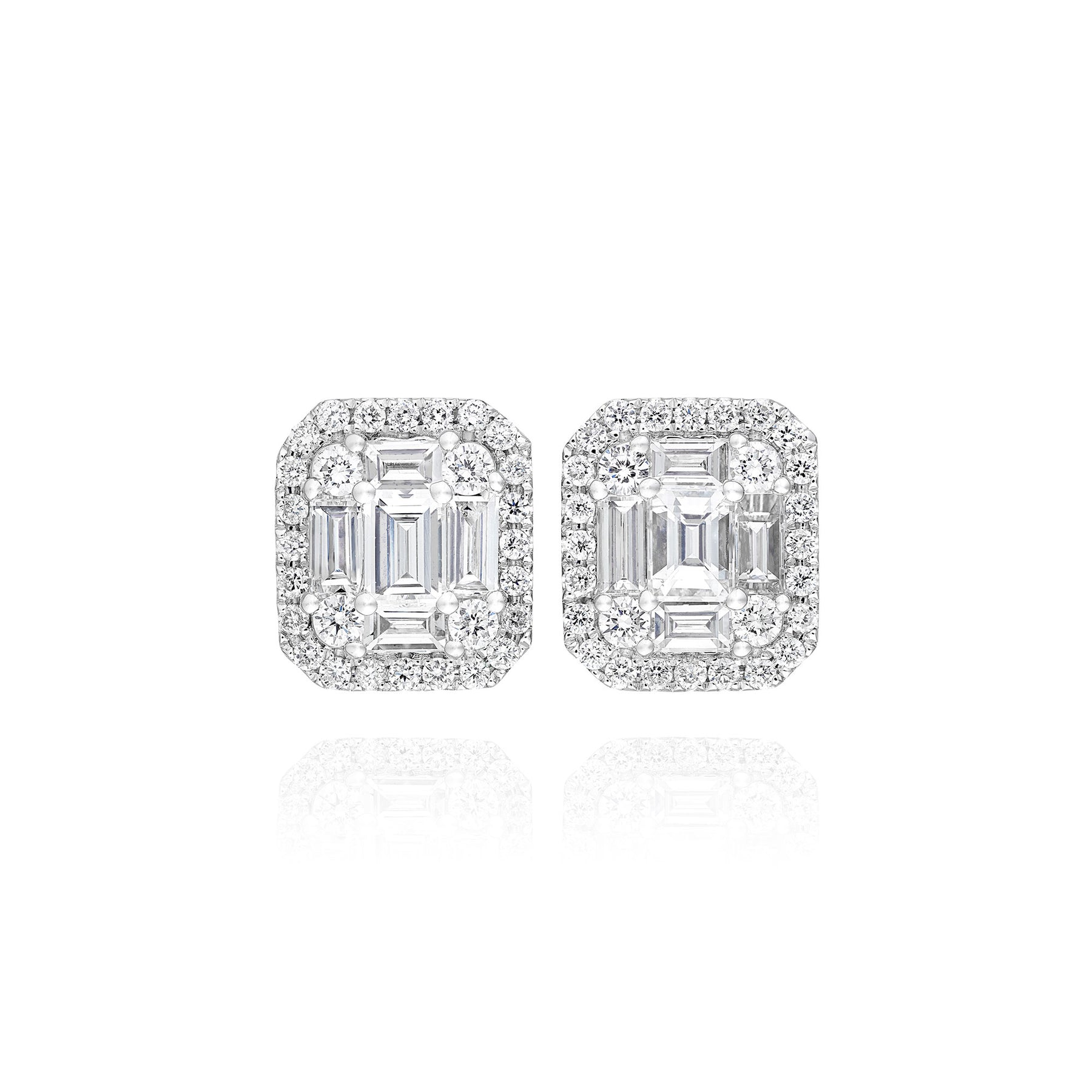 Eternum Baguette Diamond Earrings