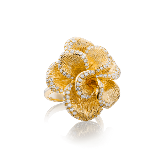 Floral Coral Ring