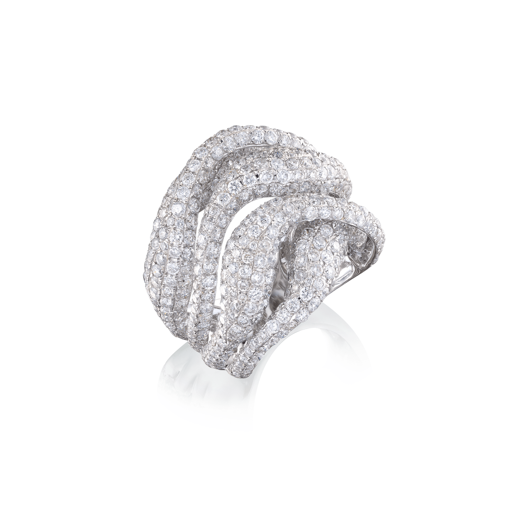 Undulation Diamond Ring