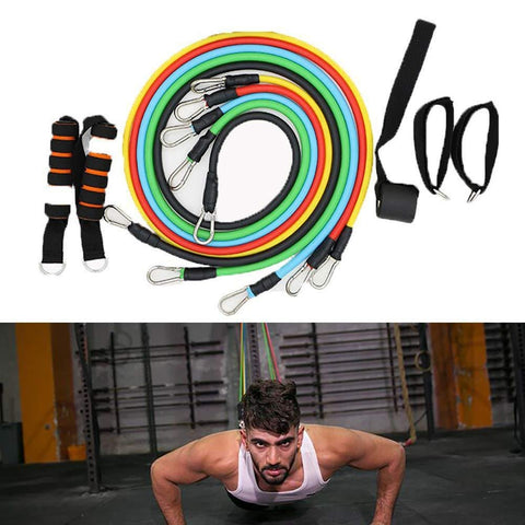 Image of 11 Pcs Resistance Band Set - WowGoBuy