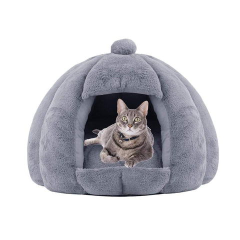 Image of Plush Cat Cave Bed - WowGoBuy