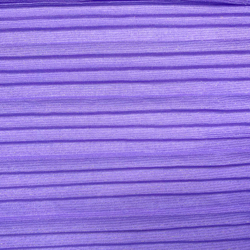 Lavender Sparkle Pleated Fabric Stretch