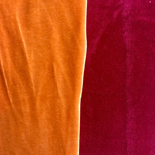 Berry 4 way Stretch Velvet 8 colors