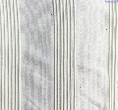 Off White Textured Stripe Taffeta fabric