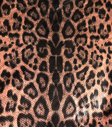 Blush Leopard print faux vegan leather