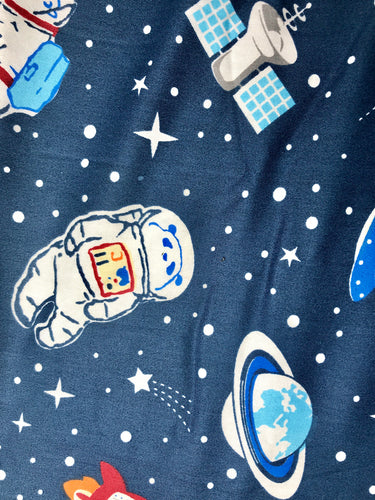 Space Bear Printed Cotton Fabric