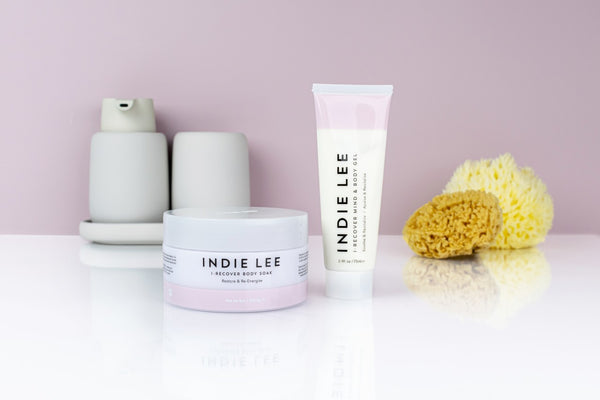 Post workout body care with Indie Lee I-Recover range