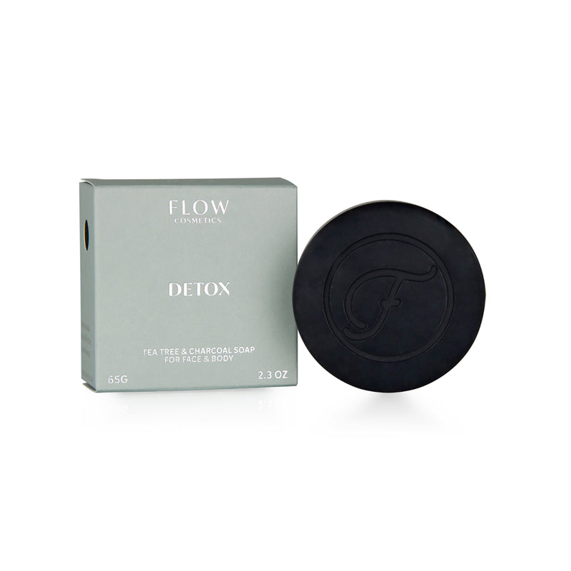 Detox - Tea Tree & Charcoal Soap For Face & Body