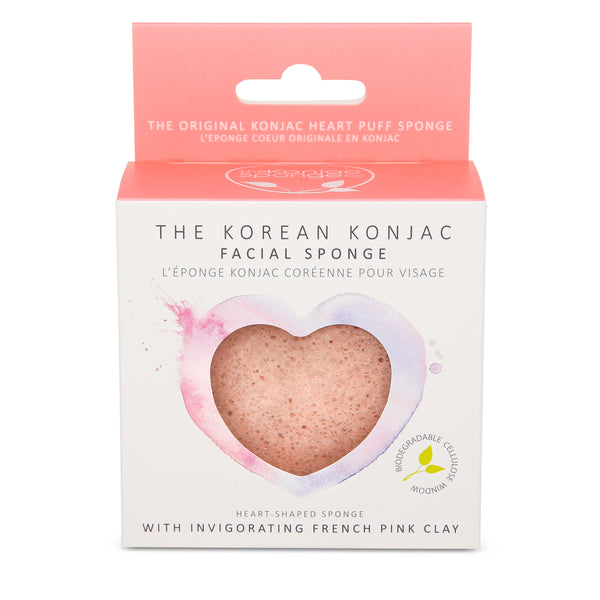Konjac Heart - French Pink Clay