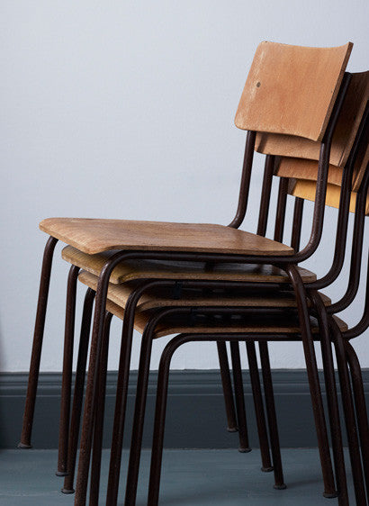 Stacking Wooden School Chairs