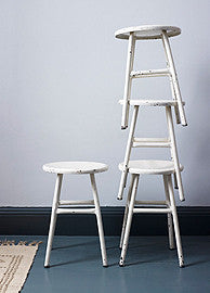 White Metal Stools