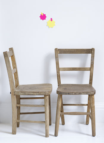 Children's Vintage Wooden Chairs