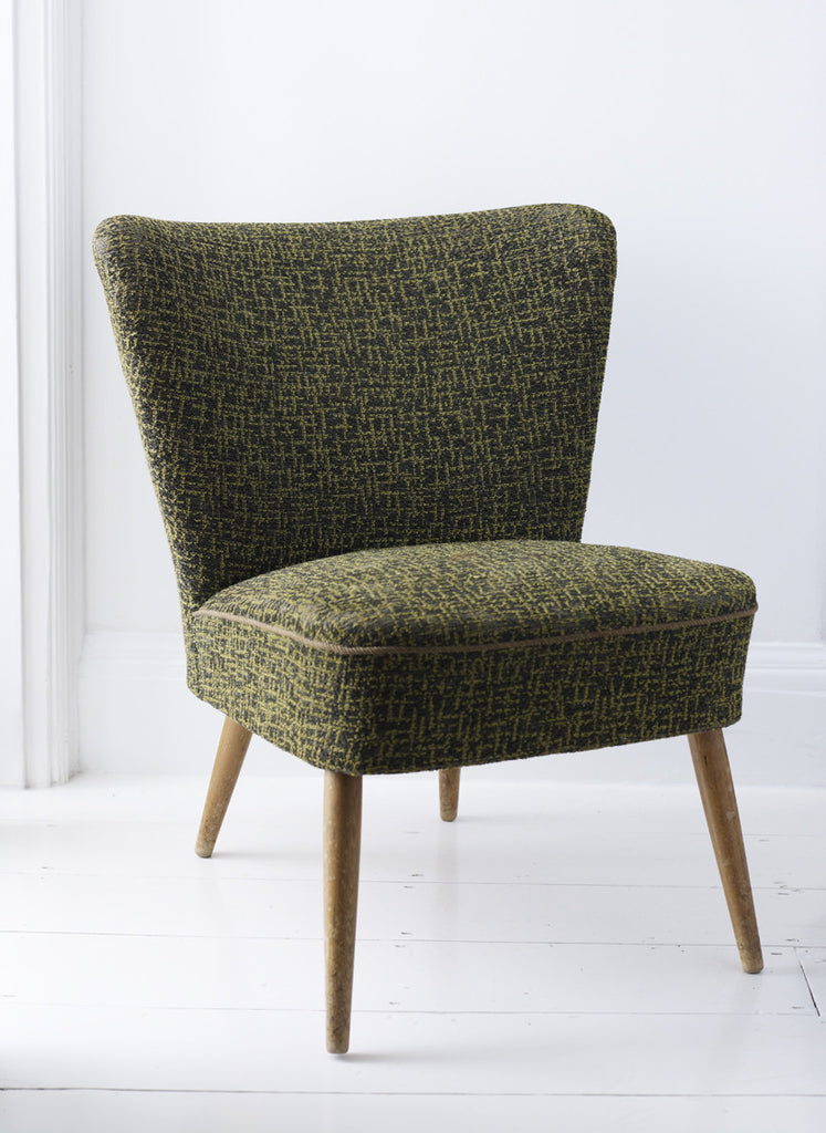 Vintage 1950's Cocktail Chair Green
