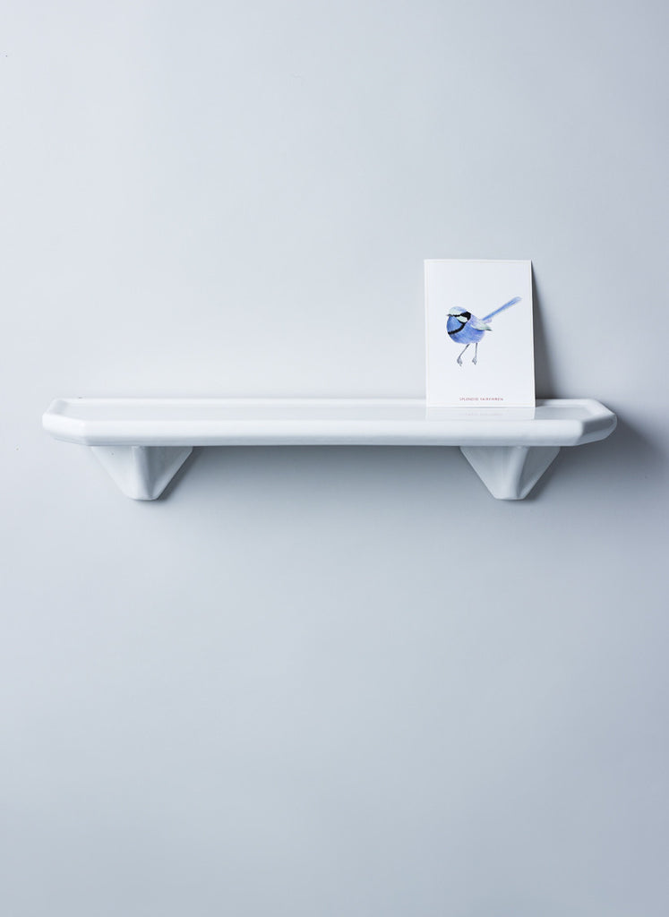 Large ceramic white shelf
