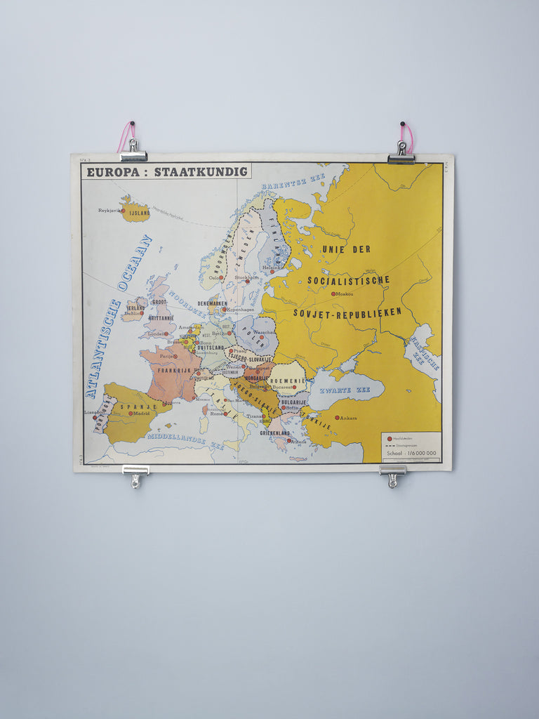 Wall map of Europe