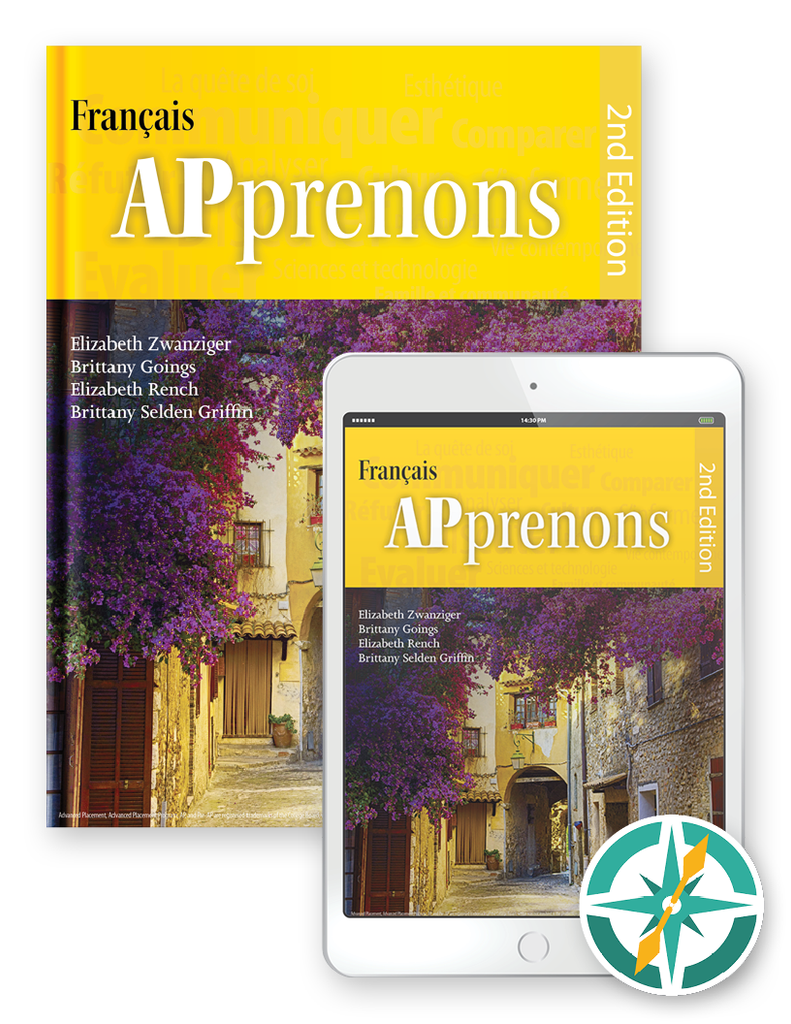 APprenons, 2nd Edition - One-Year Hardcover Print and Digital Student Package