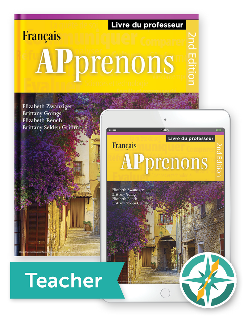 APprenons, 2nd Edition - One-Year Softcover Print and Digital Teacher Package