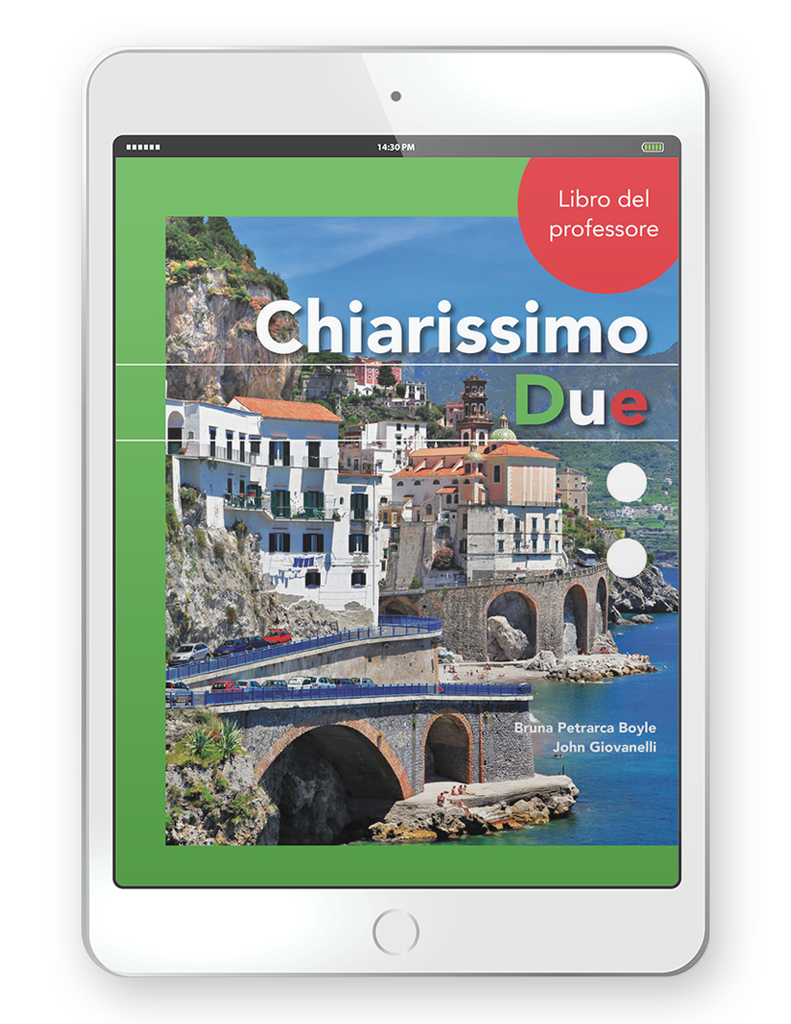 Chiarissimo Due - Multi-Year Teacher Digital Package (Teacher FlexText® + Student FlextText + Explorer)
