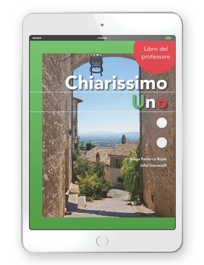 Chiarissimo Uno - Multi-Year Digital Teacher Package (Teacher FlexText® + Student FlextText + Explorer)
