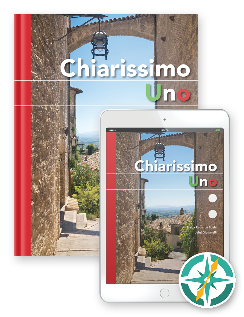 1 Year Softcover Print and Digital (FlexText® + Explorer) - Chiarissimo Uno