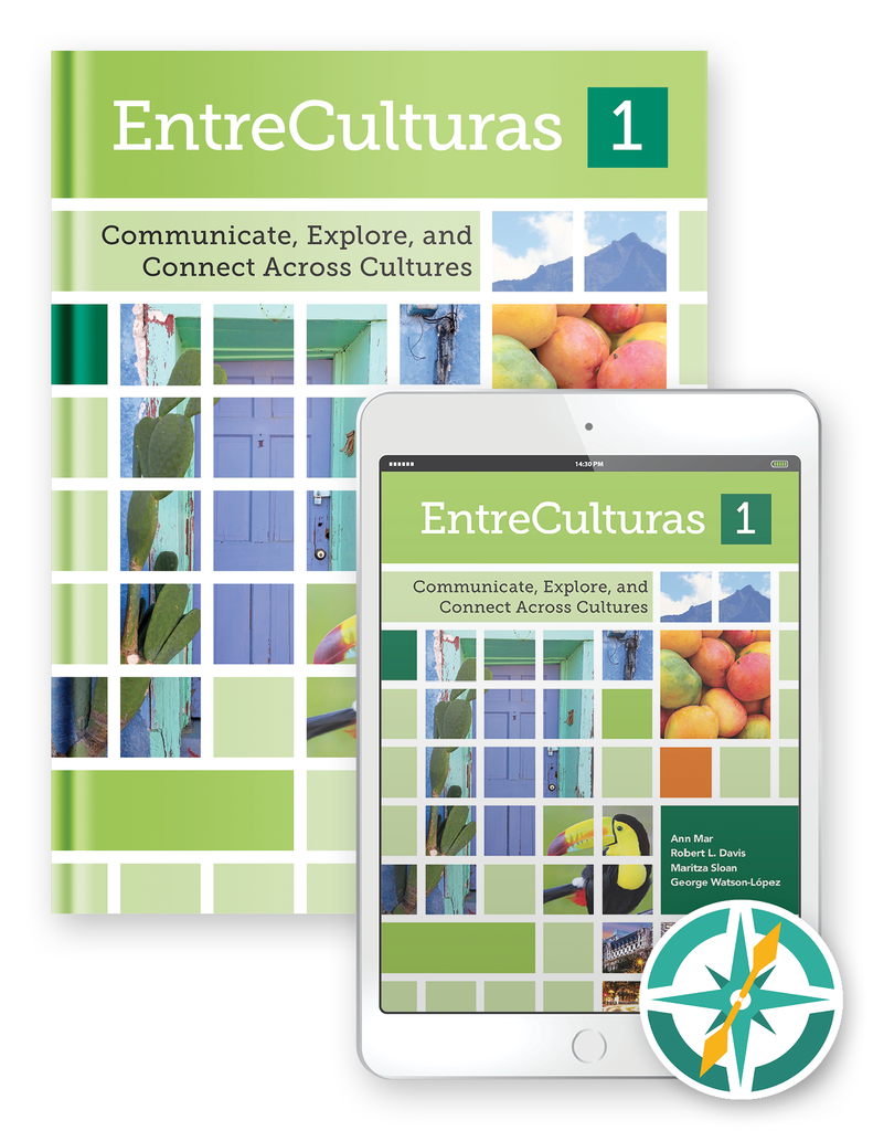 EntreCulturas 1, Español - One-Year Hardcover Print and Digital Student Package