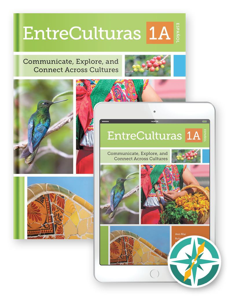 EntreCulturas 1a, Español - One-Year Hardcover Print and Digital Student Package (FlexText® + Explorer)