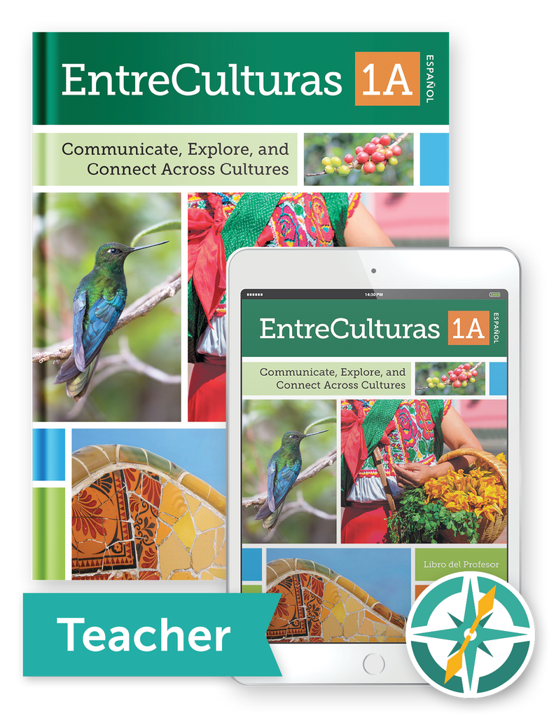 EntreCulturas 1a, Español - One-Year Softcover Print and Digital Teacher Package
