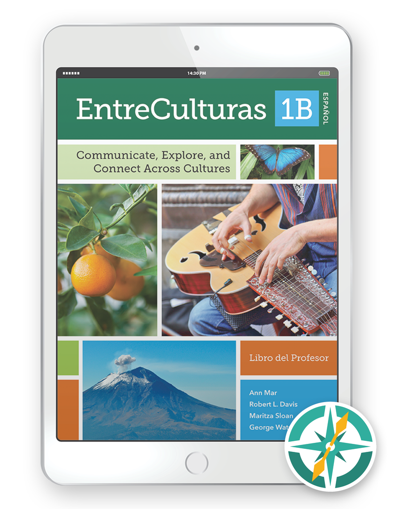 EntreCulturas 1b- Multi-Year Teacher Digital Package (Teacher FlexText® + Student FlextText® + Explorer)