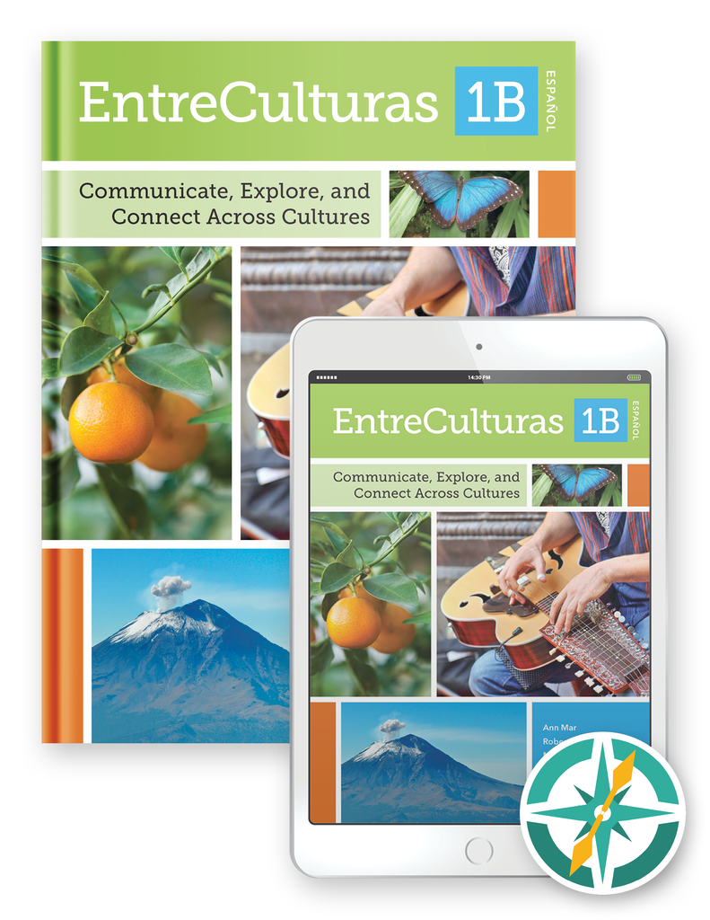 EntreCulturas 1b, Español - One-Year Hardcover Print and Digital Student Package