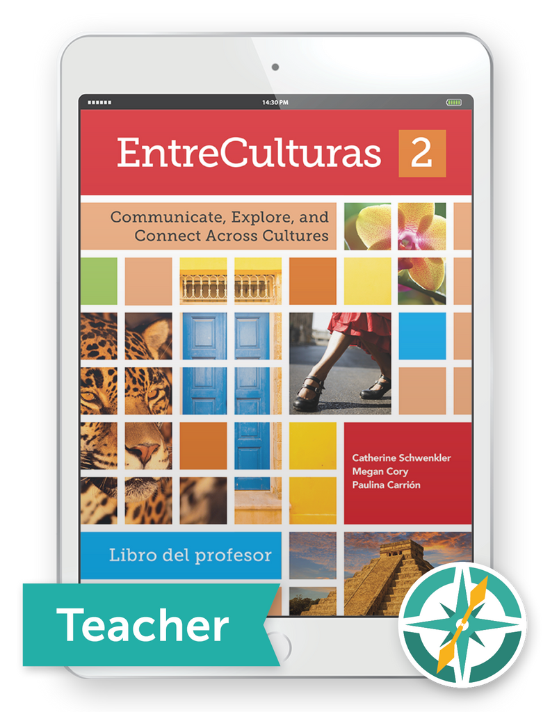 EntreCulturas 2, Español - One-Year Digital Teacher Package (Teacher FlexText® + Student FlexText® + Explorer)