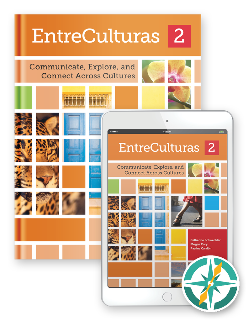 EntreCulturas 2 - One-Year Hardcover Print and Digital Student Package