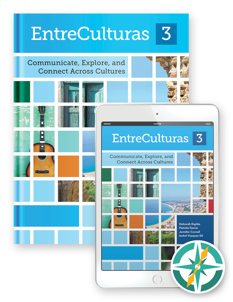 EntreCulturas 3, Español - One-Year Softcover Print and Digital Student Package