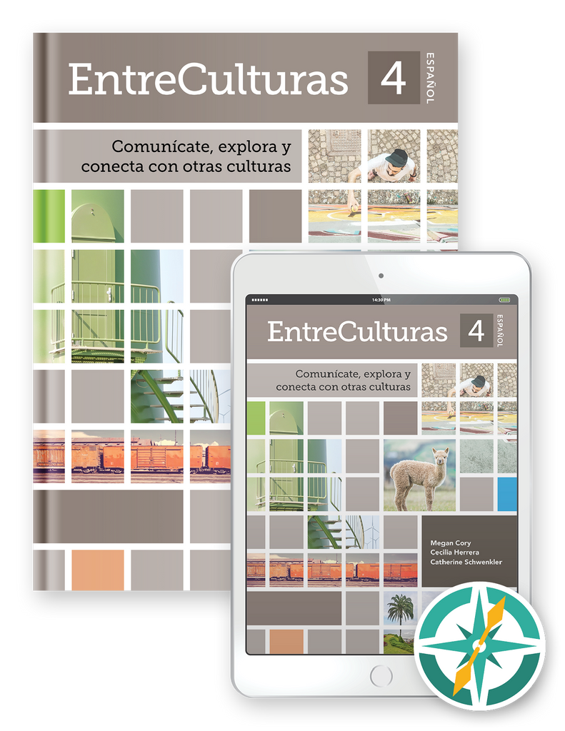 EntreCulturas 4, Español - One-Year Hardcover Print and Digital Student Package