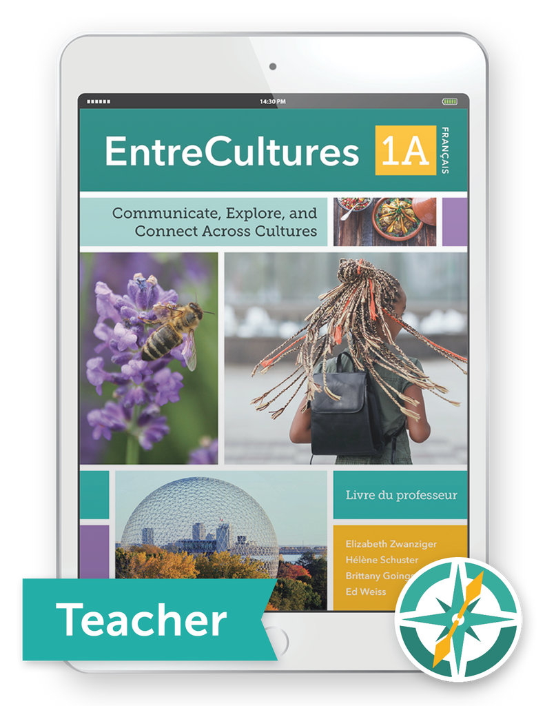 EntreCultures 1a, Français  - One-Year Digital Teacher Package (Teacher FlexText® + Student FlexText® + Explorer)