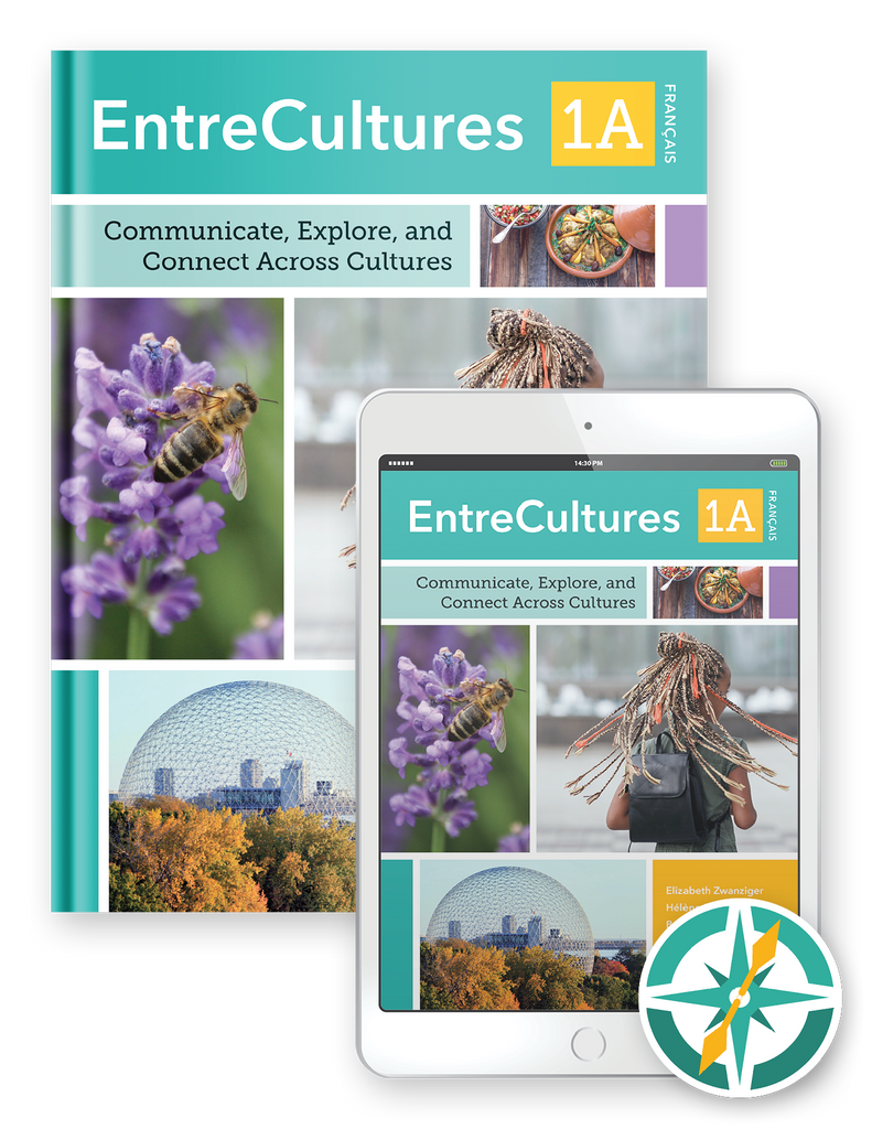 EntreCultures 1a, Français  - One-Year Hardcover Print and Digital Student Package