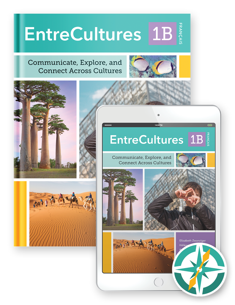 EntreCultures 1b, Français  - Multi-Year Hardcover Print and Digital Student Package