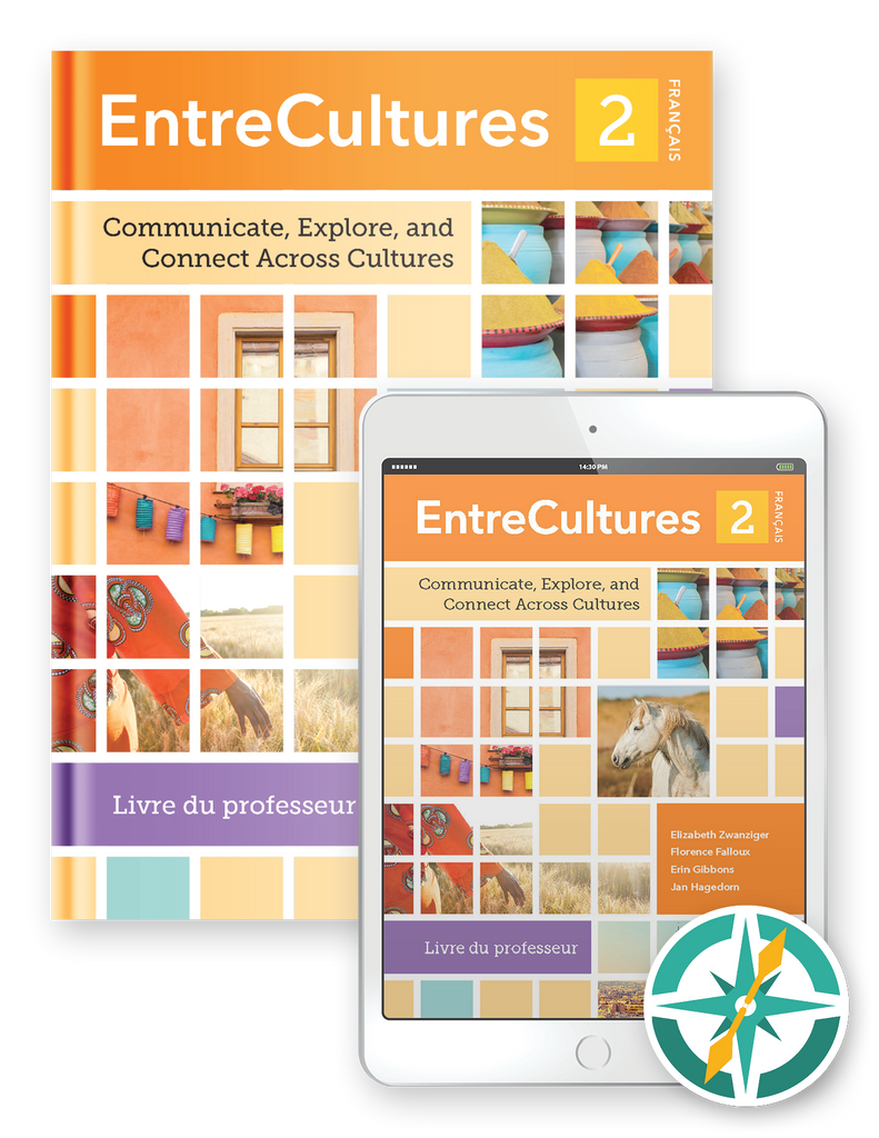 EntreCultures 2, Français - Multi-Year Softcover Print and Digital Teacher Package