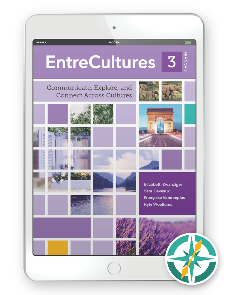 Coming soon! EntreCultures 3, Français - One-Year Digital Student Package (FlexText® + Explorer)